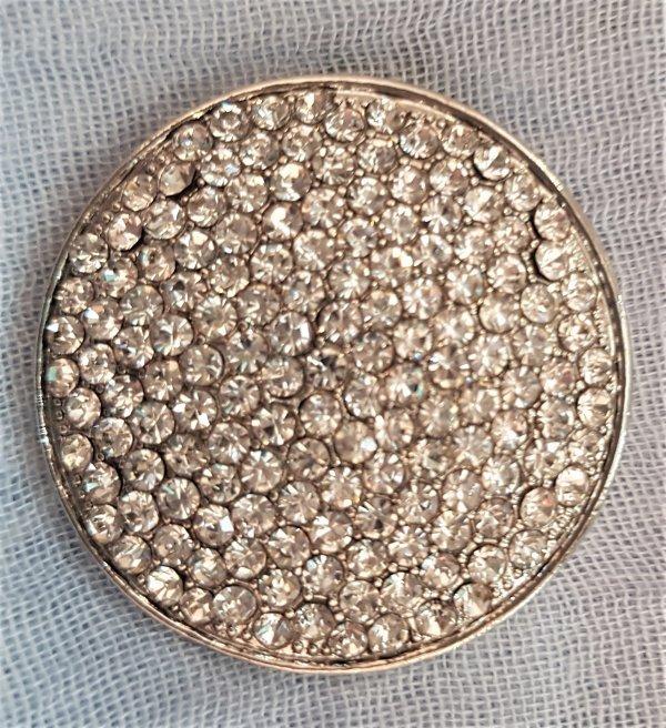 Straß-Brosche mit Magnetverschluß (für Schals/Tücher oder als Jacken-Schließe)