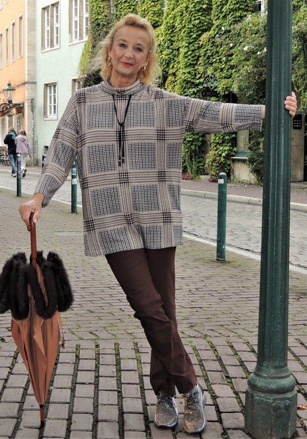 Pullover Via Appia, Kuschelig. Lang, Sweatshirt-Stil