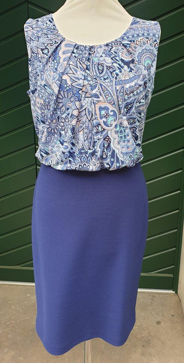 Kleid mit blusigem Kleidoberteil und Stretchrock-Kleidunterteil, Marke Batida