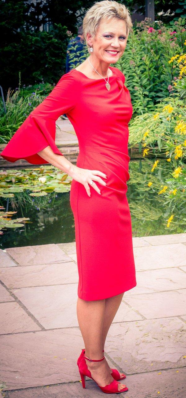 Kleid, Marke Joseph Ribkoff, rot, Größe 38