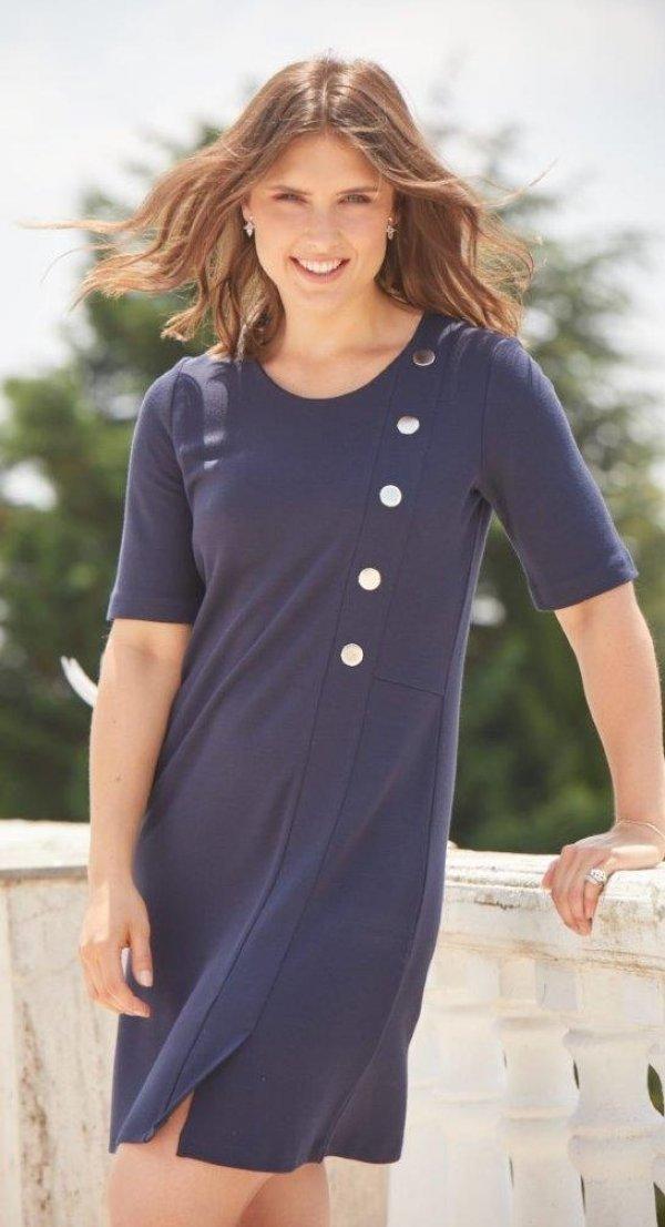 Kleid, Marke No Secret. Marineblau, klassischer Stil