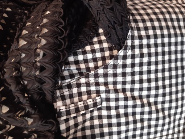 """Stehmann-Stretch-Hose mit schwarz-weißem """"Vichi-Karo"""". Bequem mit schmaler Fesselweite. Größe 36"""